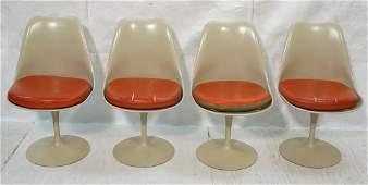 Set 4 KNOLL Eero SAARINEN Tulip Dining Chairs. Al