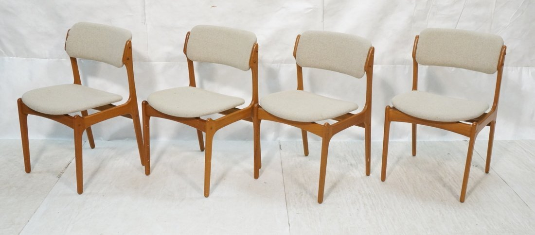 Set 4 Teak OD MOBLER Side Dining Chairs. Danish M