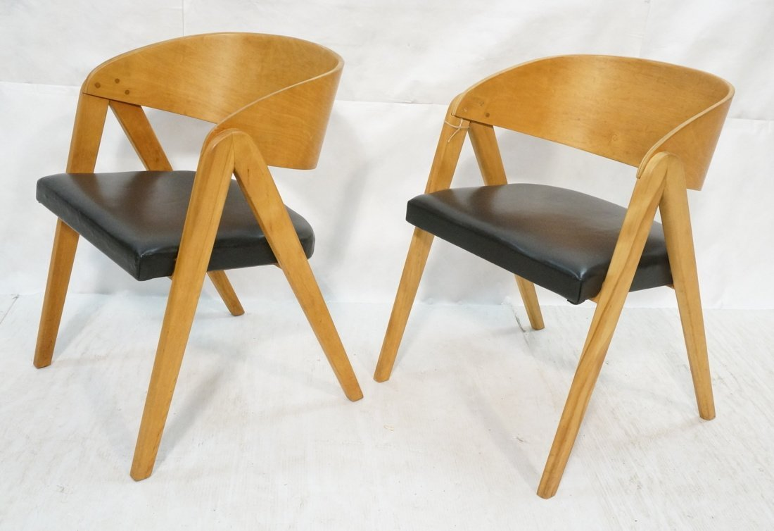 "Pr ALLAN GOULD ""Compass"" Lounge Chairs."