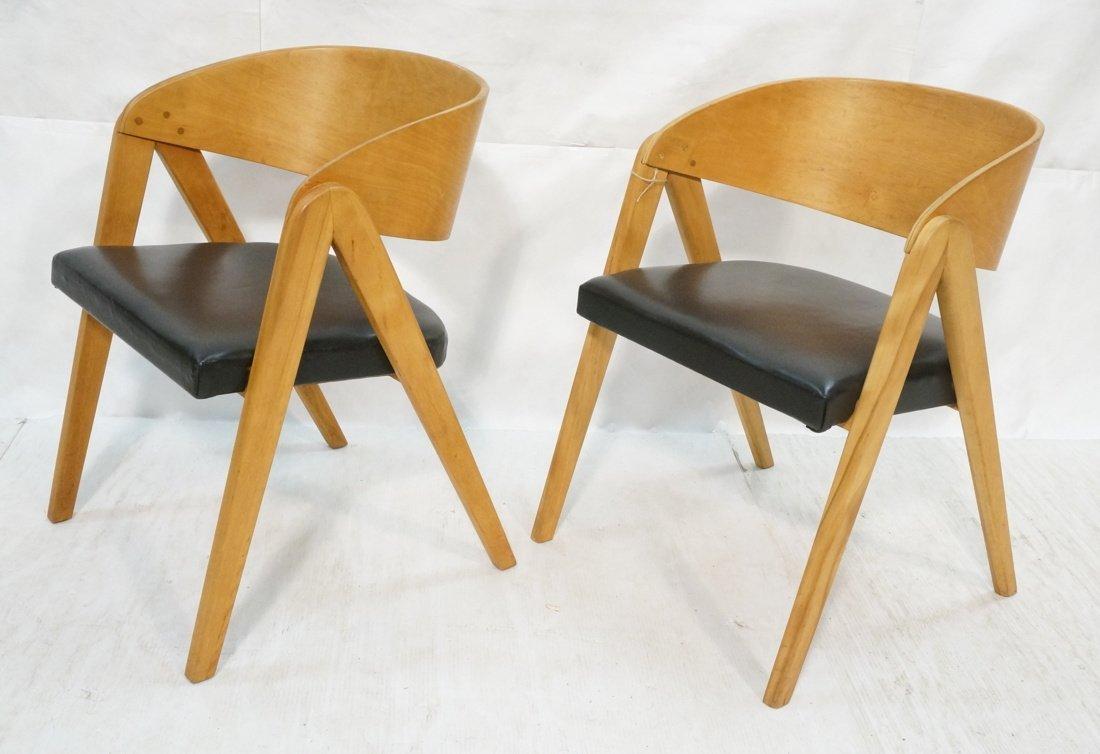 "Pr ALLAN GOULD ""Compass"" Lounge Chairs."