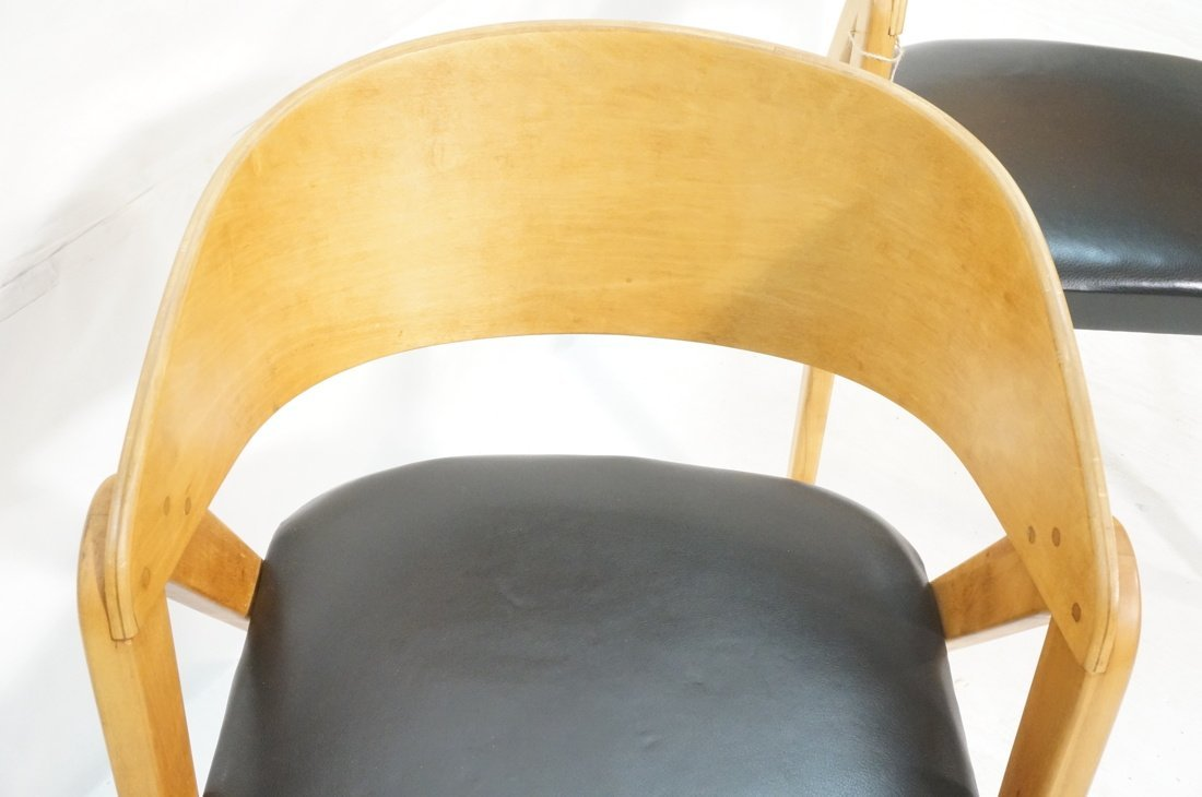 "Pr ALLAN GOULD ""Compass"" Lounge Chairs. - 3"
