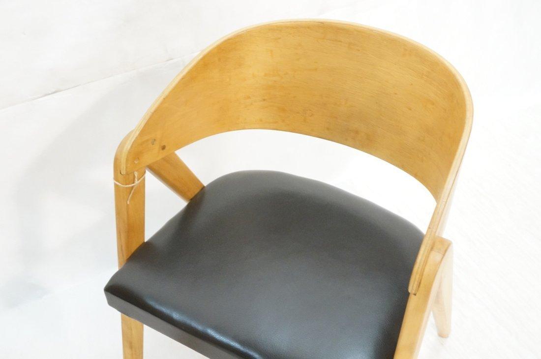 "Pr ALLAN GOULD ""Compass"" Lounge Chairs. - 4"