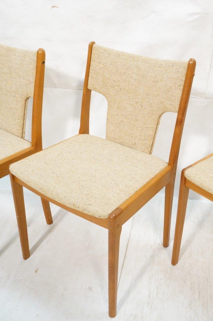 Set 4 Teak Danish Modern Side Dining Chairs. Oatm - 4