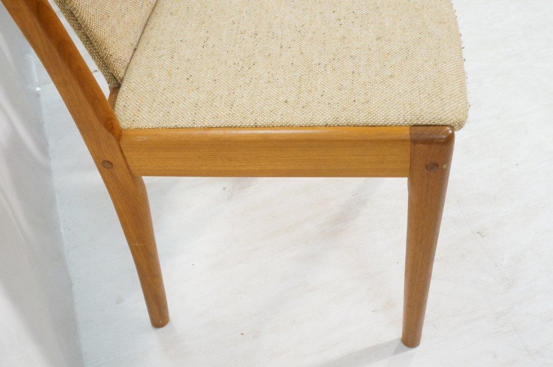 Set 4 Teak Danish Modern Side Dining Chairs. Oatm - 6