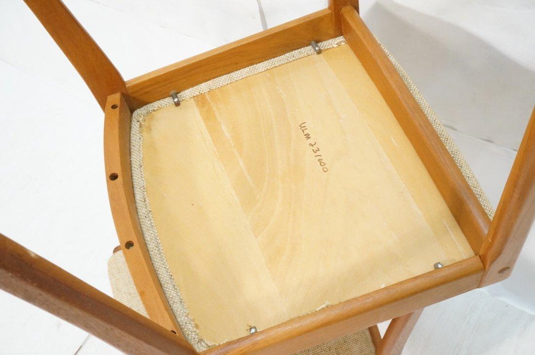 Set 4 Teak Danish Modern Side Dining Chairs. Oatm - 8