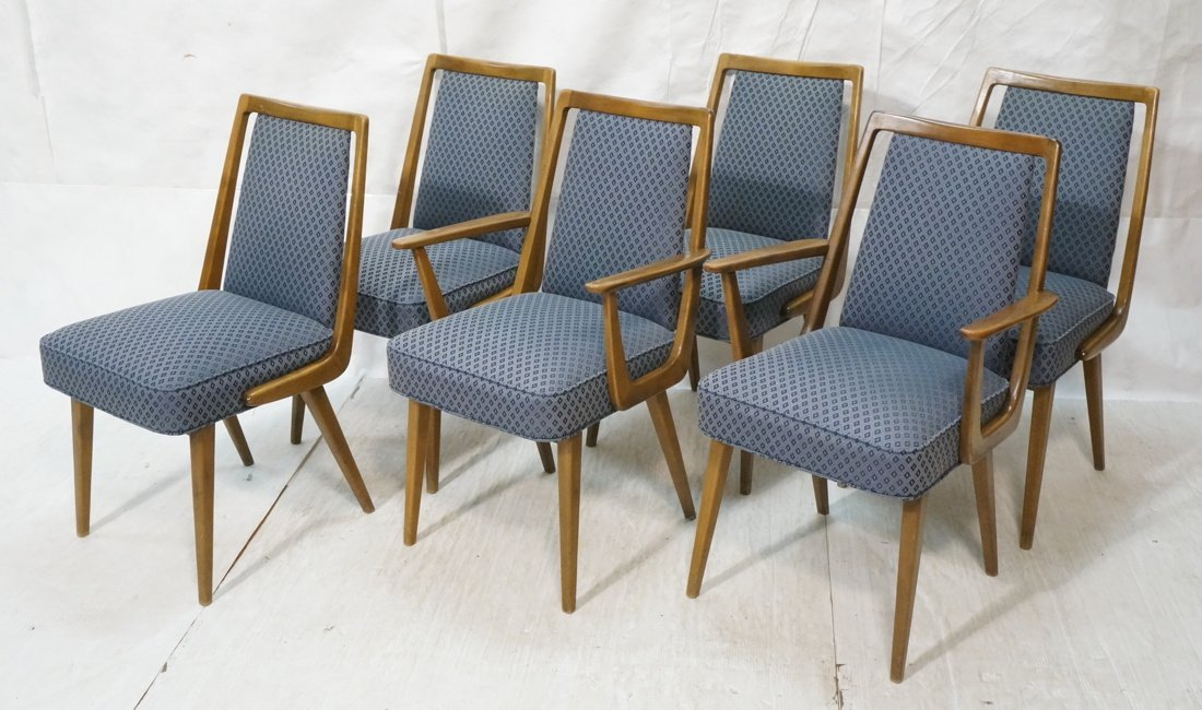 Set 6 Italian style Modernist Dining Chairs. Two