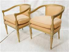 Pr Gold Painted  Carved Wood Fauteuils French st