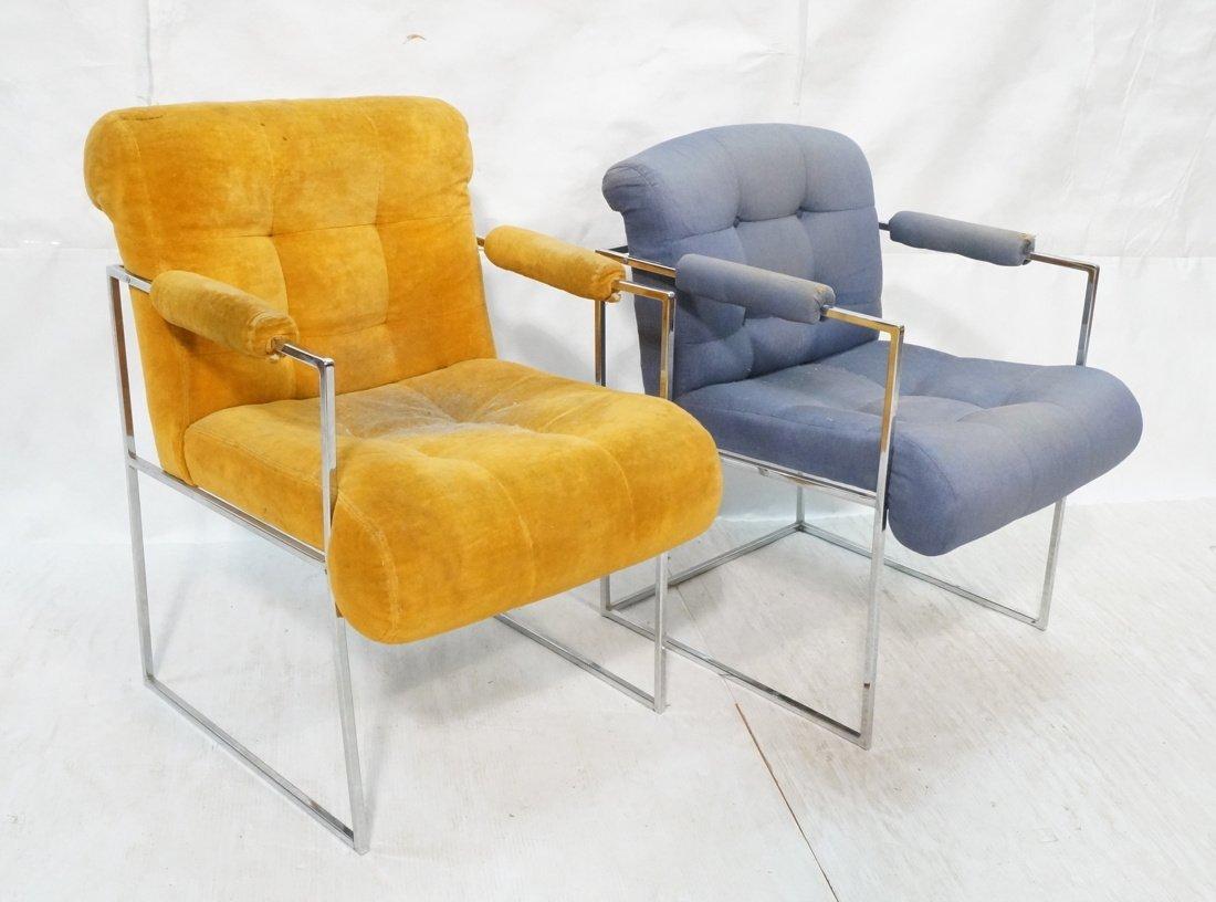 2pc Milo Baughman THAYER COGGIN Arm Lounge Chairs