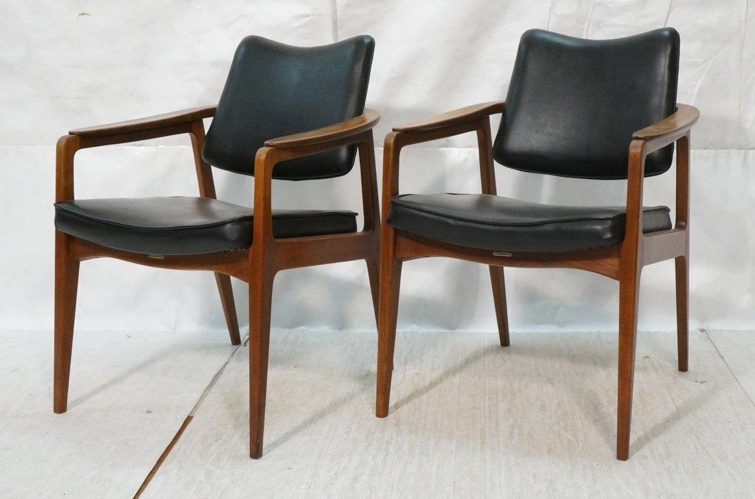 Pr SIGVARD BERNADOTTE Lounge Chairs. Black vinyl