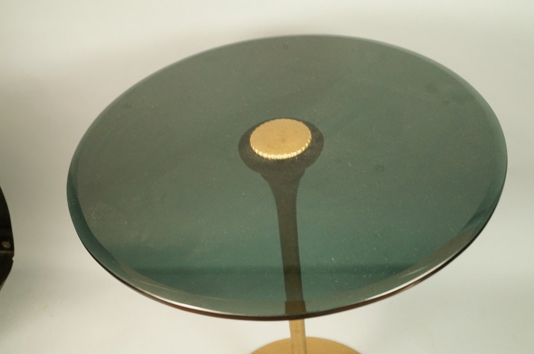 Brass Pedestal Side Occasional Table. - 2