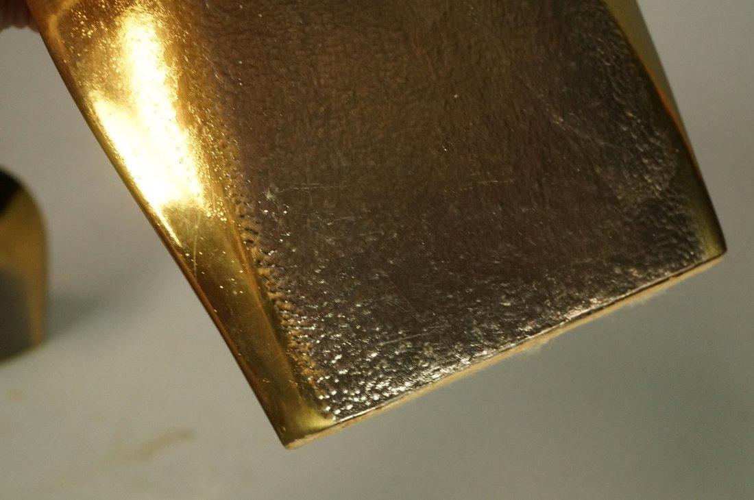 Pr Brass Modernist BEN SEIBEL Bookends. Upside do - 4