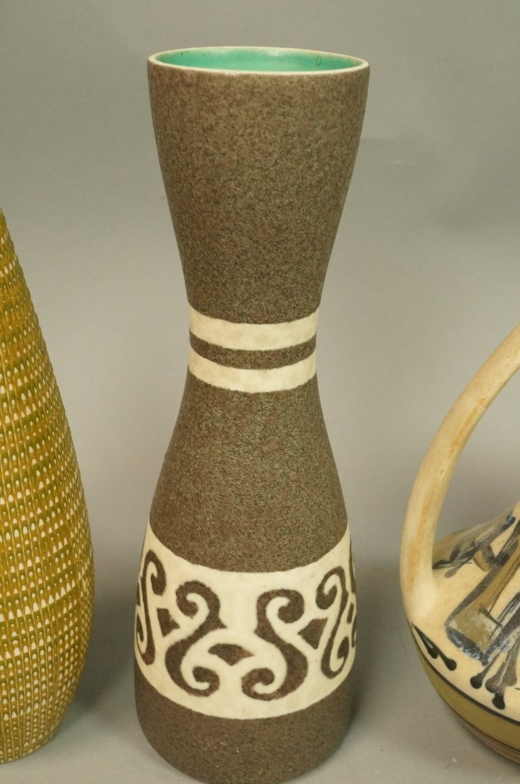 5pc Modernist Vase Lot. German, Italy Israel. Mos - 3