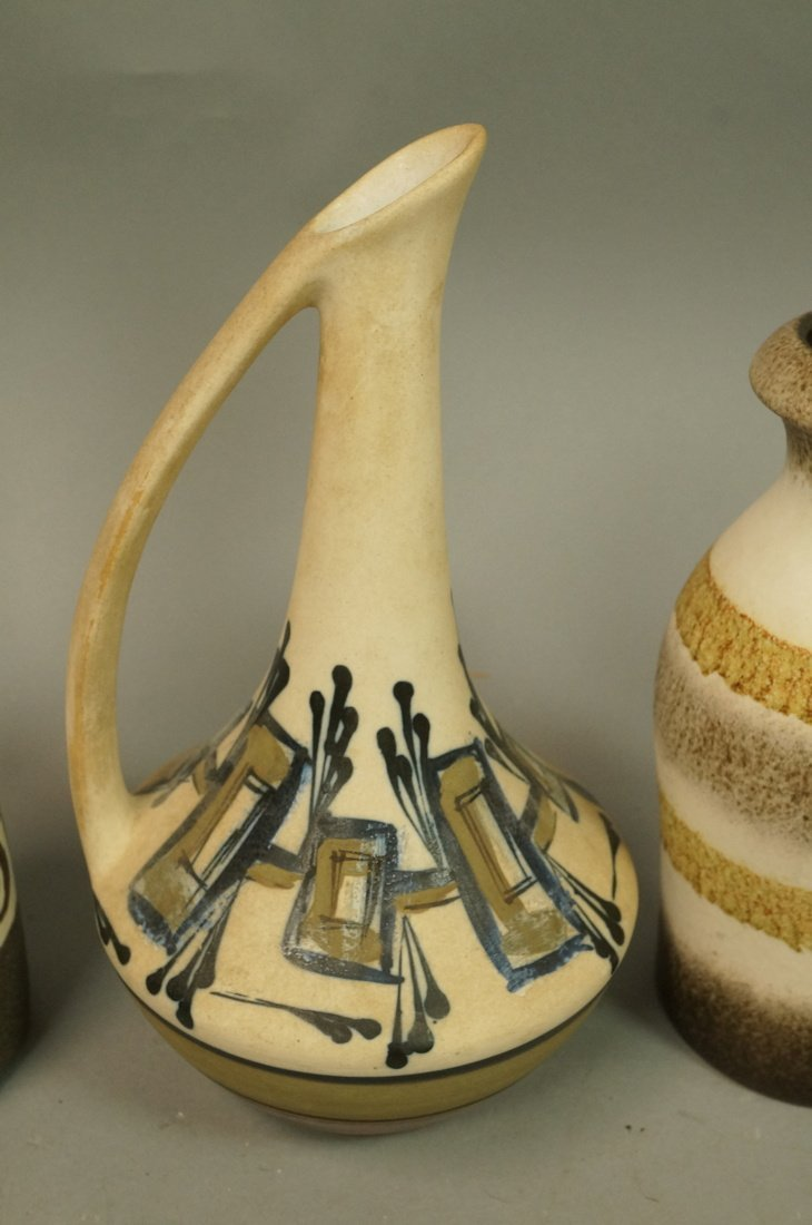 5pc Modernist Vase Lot. German, Italy Israel. Mos - 4