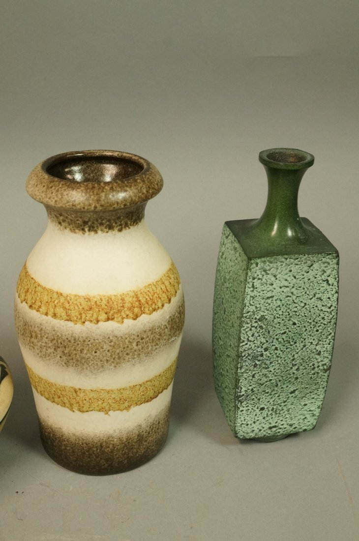 5pc Modernist Vase Lot. German, Italy Israel. Mos - 5