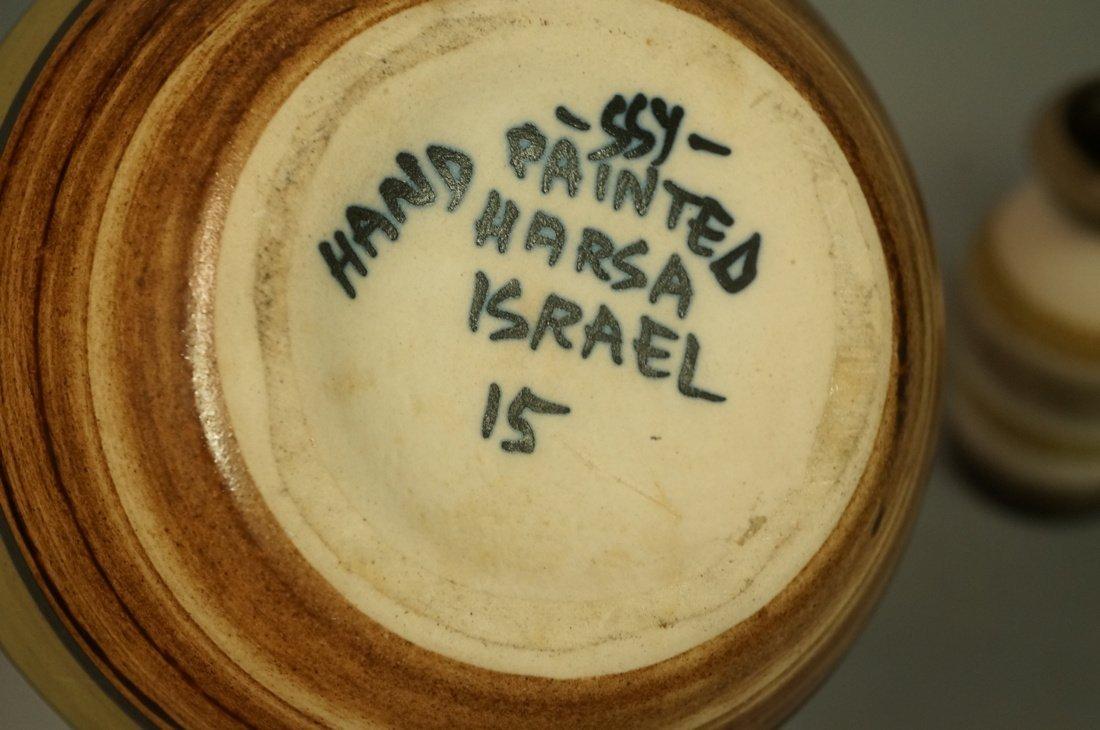 5pc Modernist Vase Lot. German, Italy Israel. Mos - 8