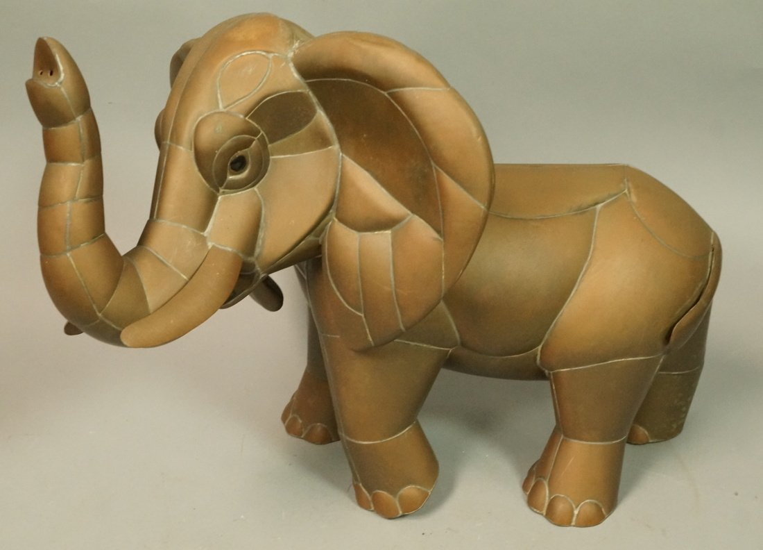 SERGIO BUSTAMANTE style  Elephant Sculpture. Figu