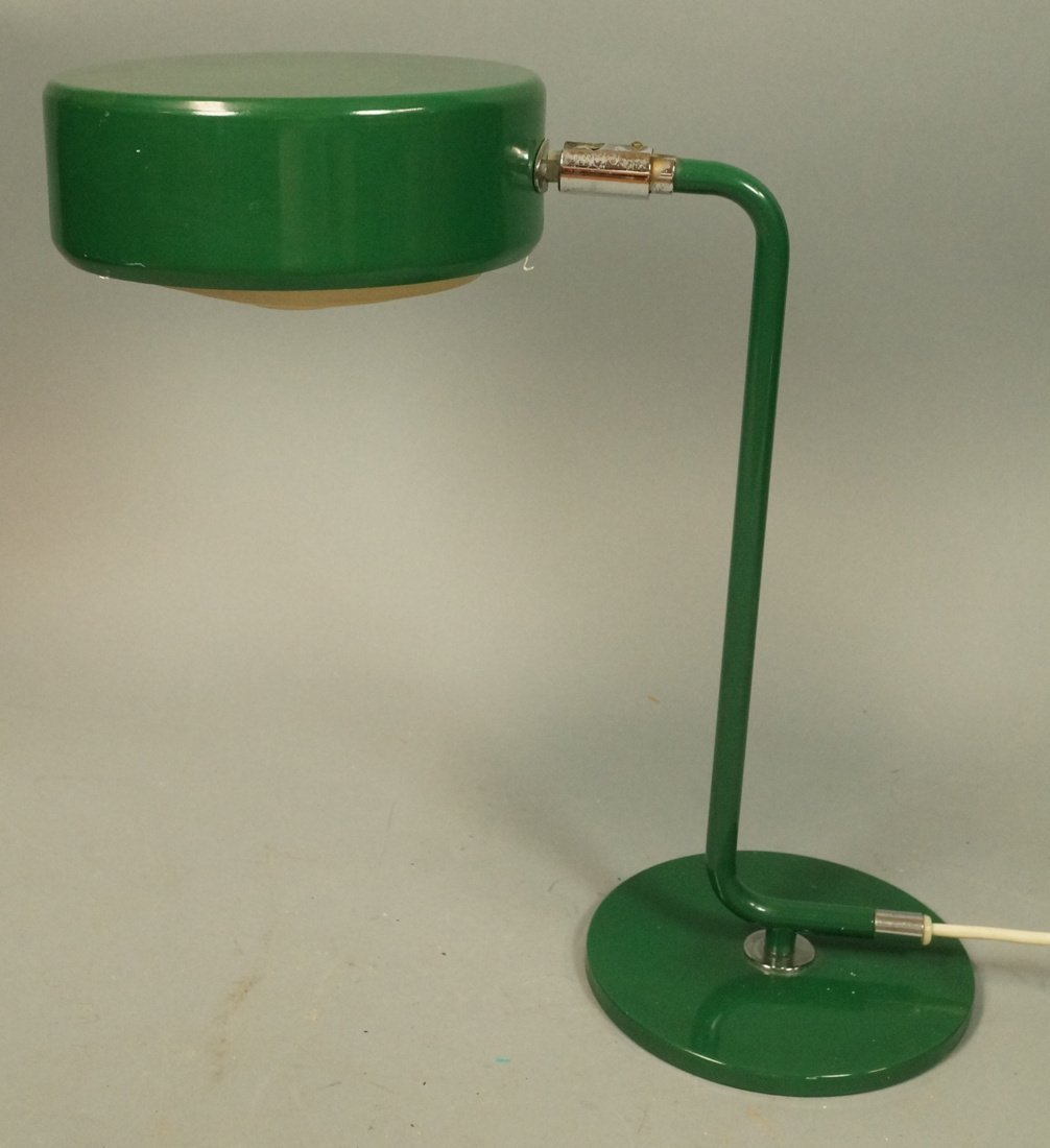 Modern Swedish Green Metal Desk Table Lamp. Marke
