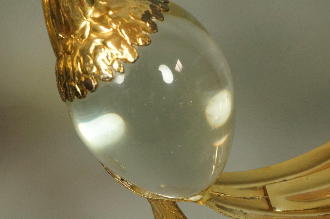 Pr FRANCO LAFINI Italian Brass & Crystal Birds. C - 3