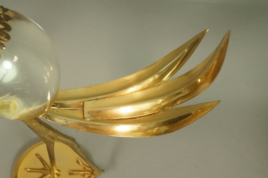 Pr FRANCO LAFINI Italian Brass & Crystal Birds. C - 6