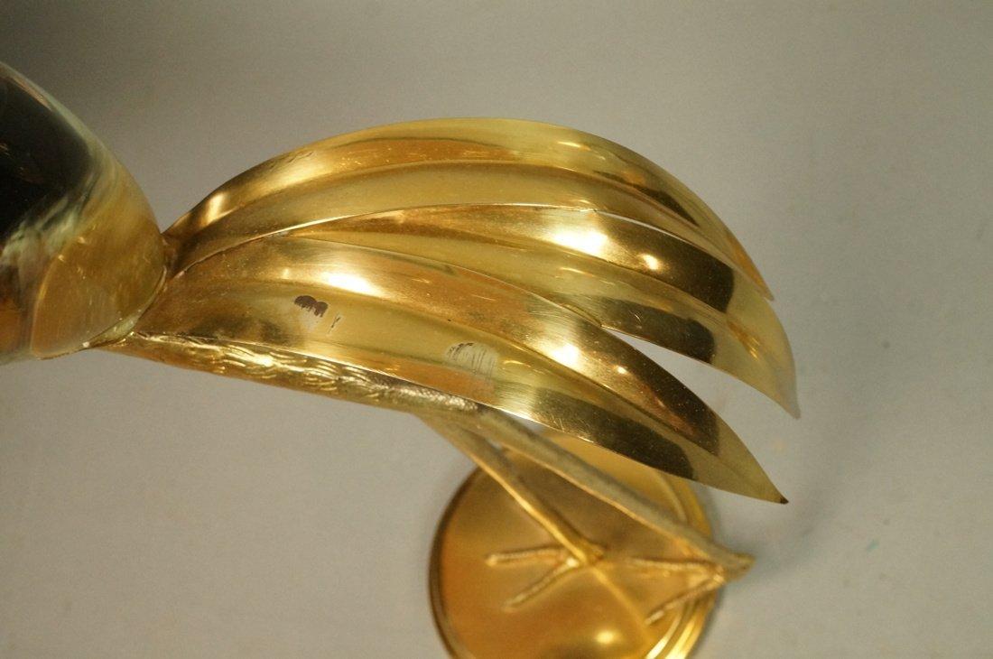 Pr FRANCO LAFINI Italian Brass & Crystal Birds. C - 7