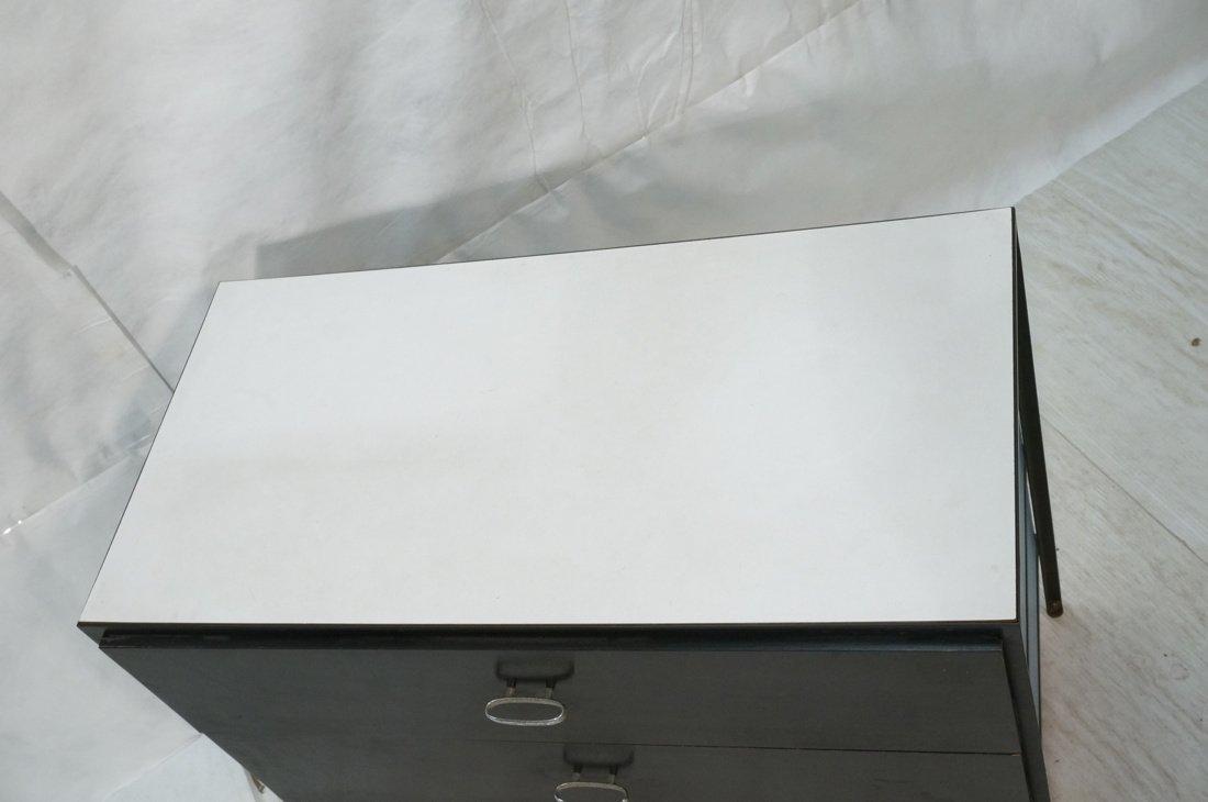 HERMAN MILLER 3 Drawer Dresser Cabinet Chest. Bla - 2