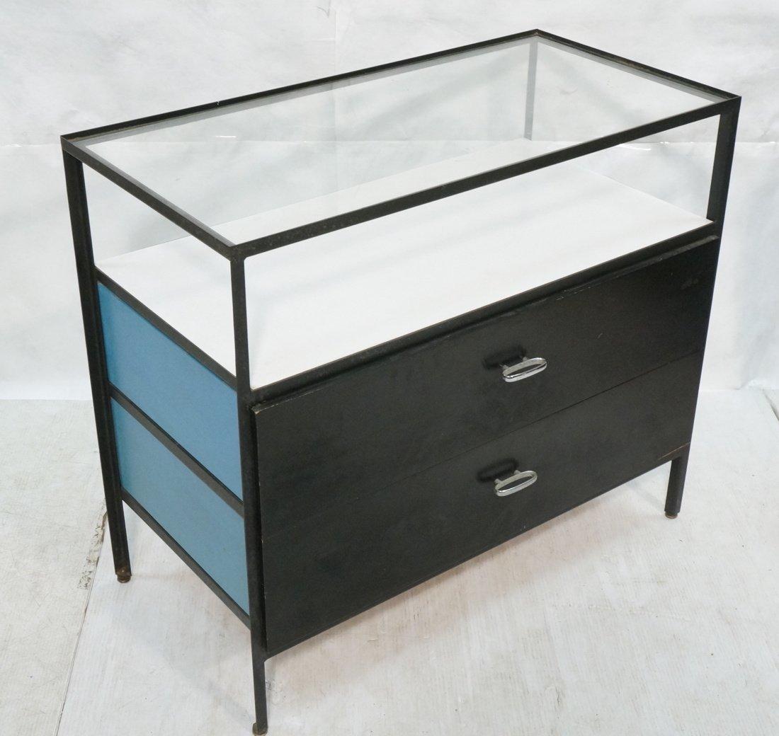 HERMAN MILLER 2 Drawer Dresser Cabinet Chest. Gla