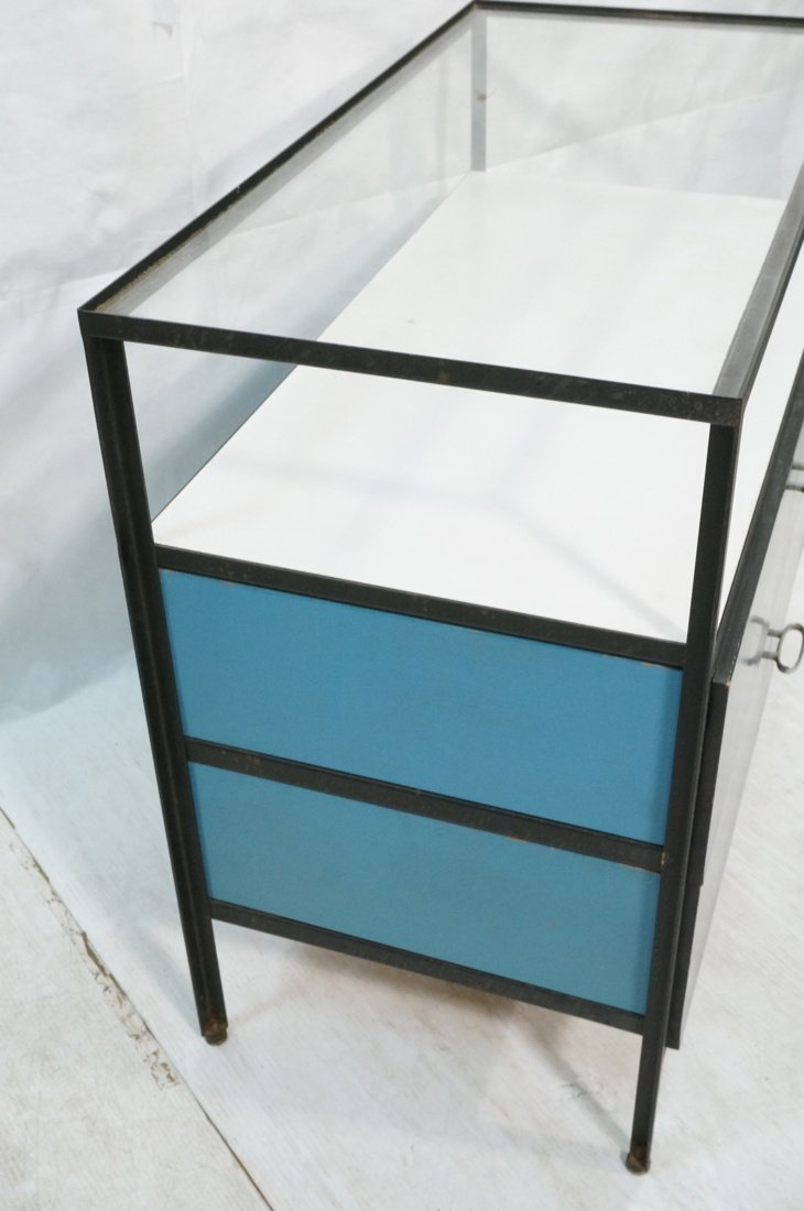 HERMAN MILLER 2 Drawer Dresser Cabinet Chest. Gla - 2