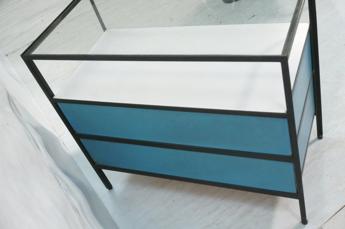 HERMAN MILLER 2 Drawer Dresser Cabinet Chest. Gla - 3
