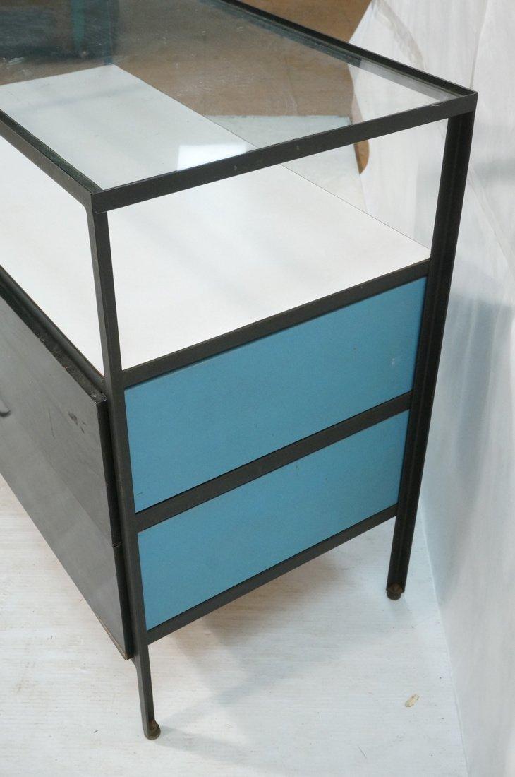 HERMAN MILLER 2 Drawer Dresser Cabinet Chest. Gla - 4