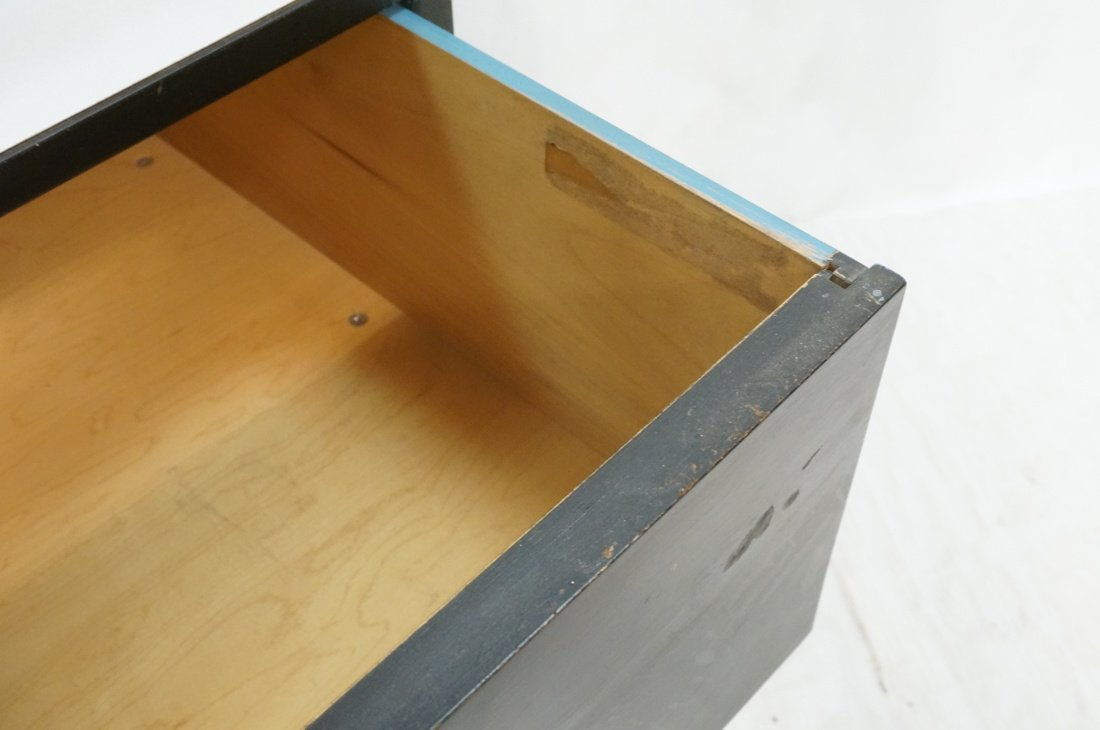 HERMAN MILLER 2 Drawer Dresser Cabinet Chest. Gla - 5