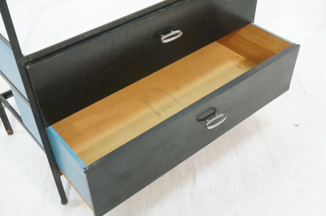 HERMAN MILLER 2 Drawer Dresser Cabinet Chest. Gla - 6