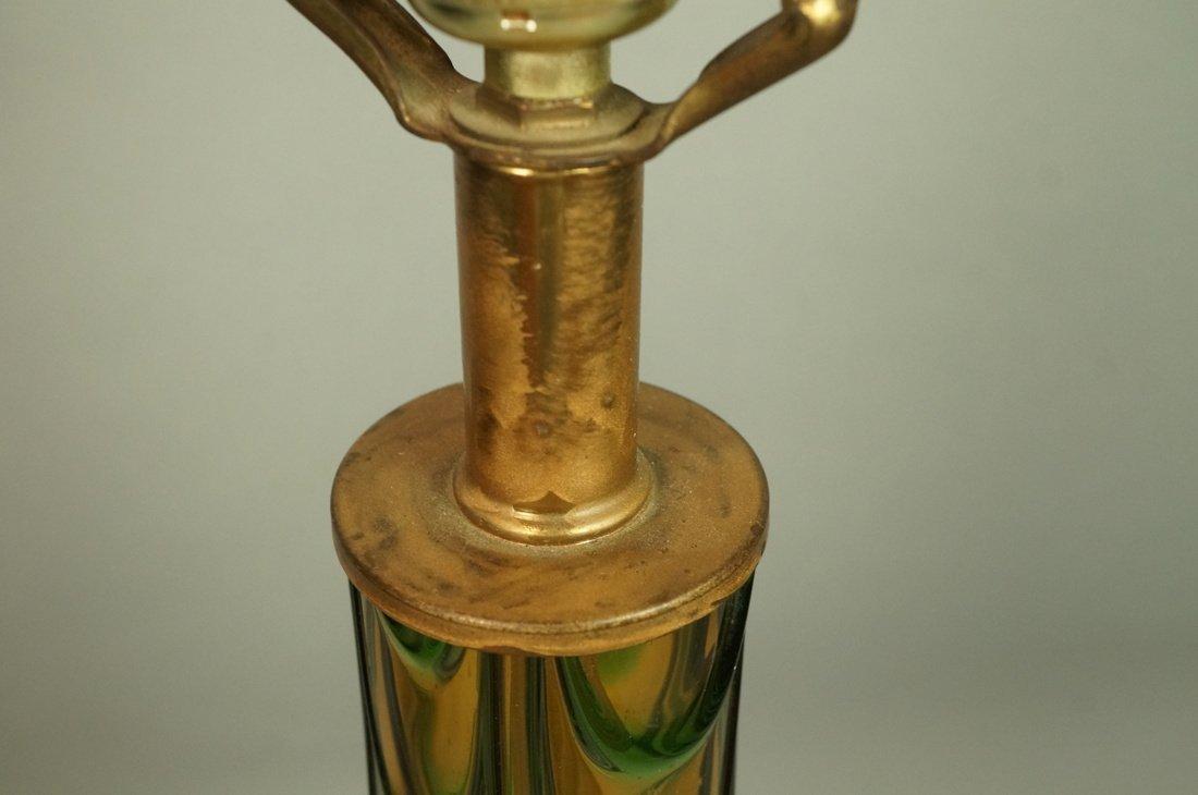 Murano Art Glass Lamp. Italian Modernist. Bottle - 3