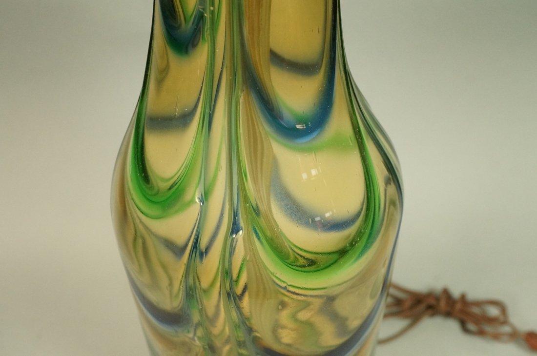 Murano Art Glass Lamp. Italian Modernist. Bottle - 4