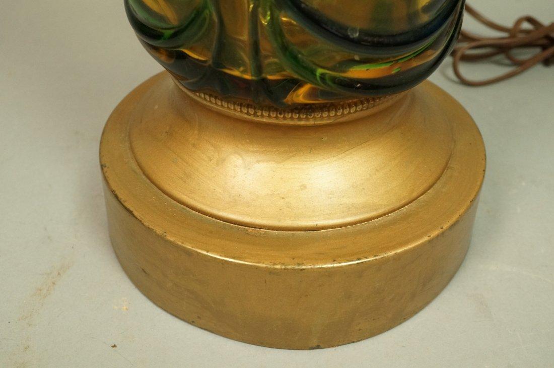 Murano Art Glass Lamp. Italian Modernist. Bottle - 5