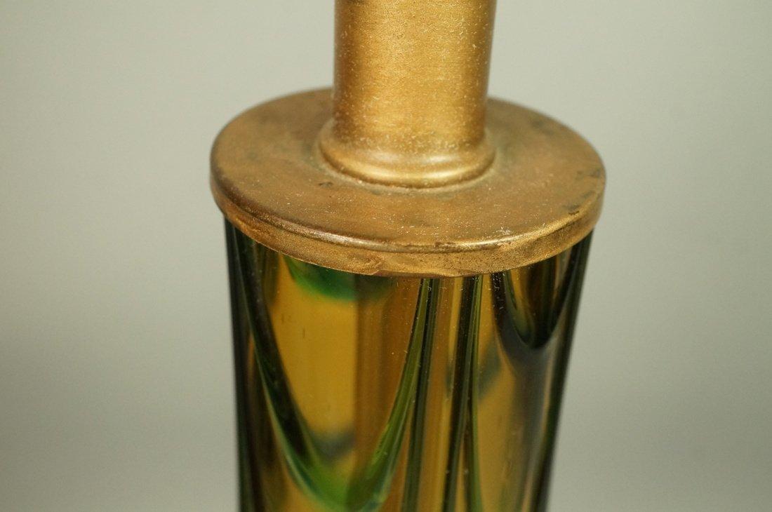 Murano Art Glass Lamp. Italian Modernist. Bottle - 7