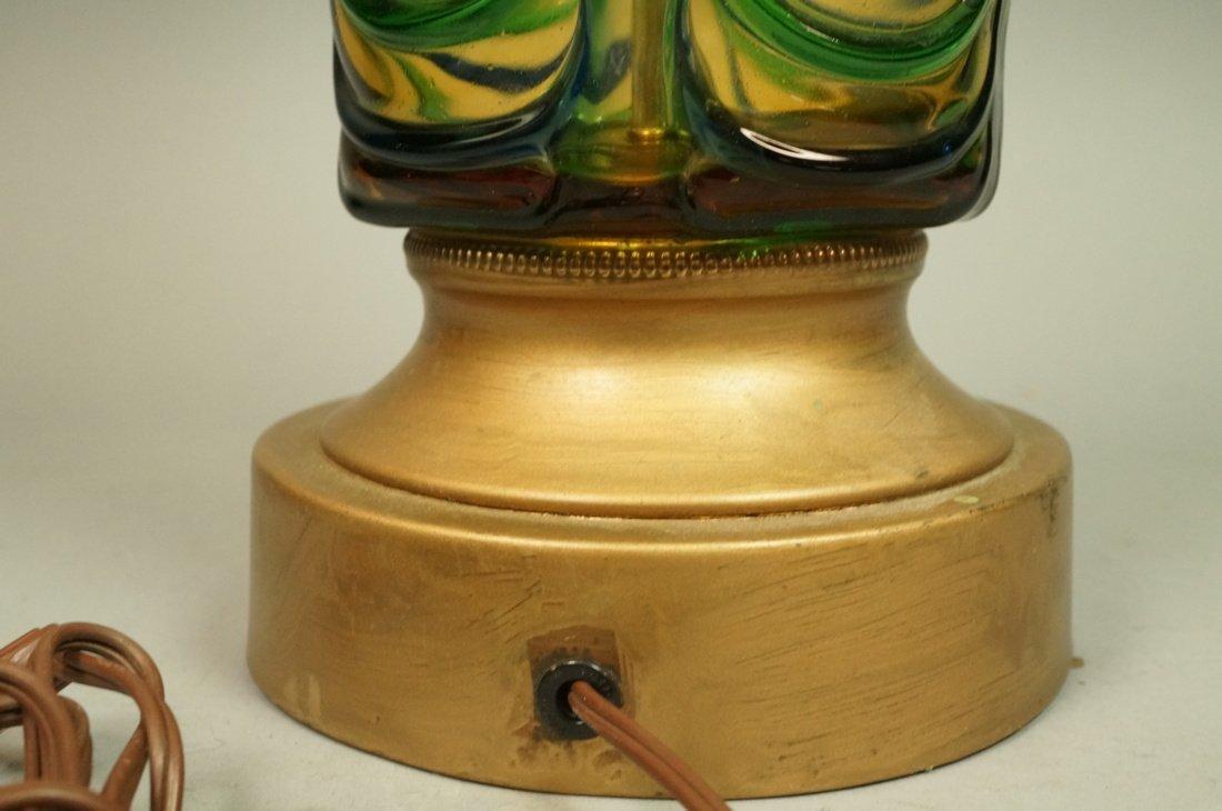 Murano Art Glass Lamp. Italian Modernist. Bottle - 9