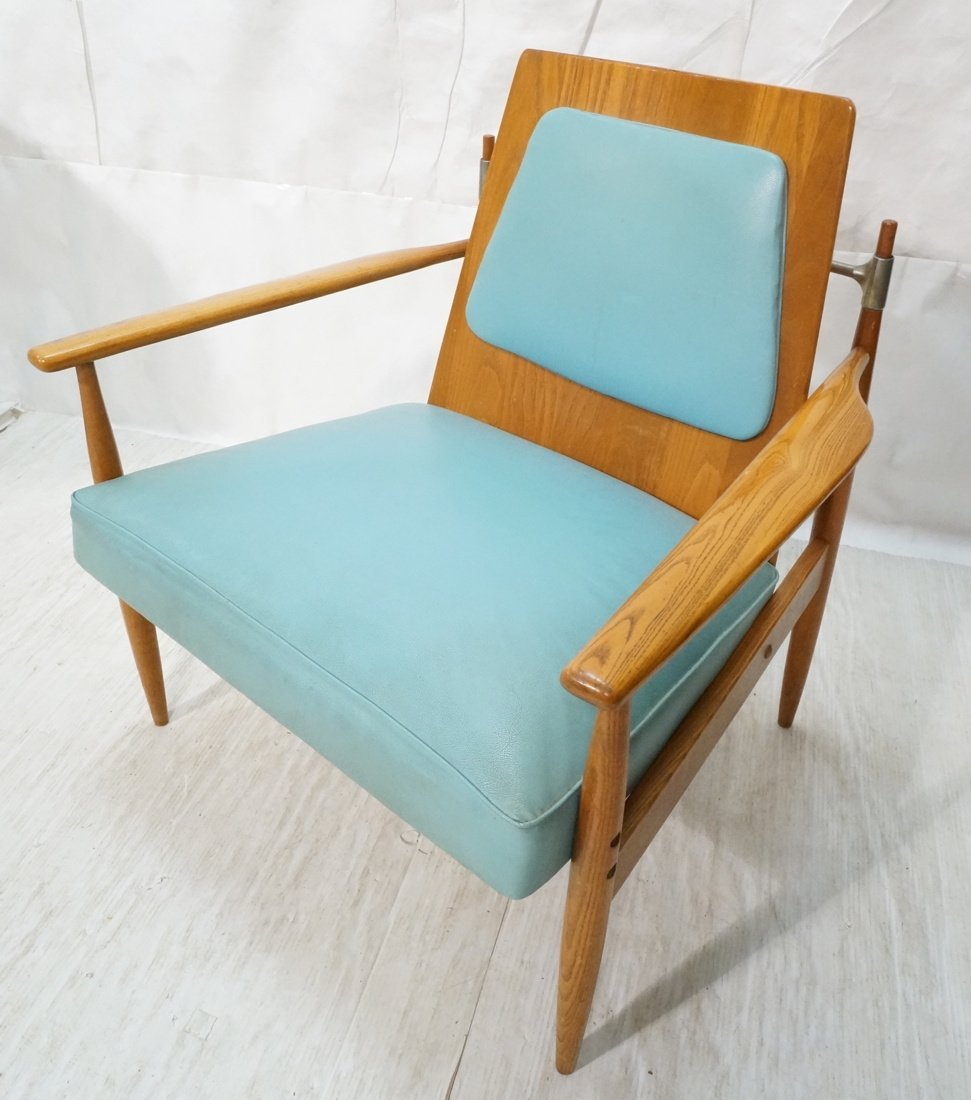 Modernist Wood Lounge Chair. Laminate woof frame.