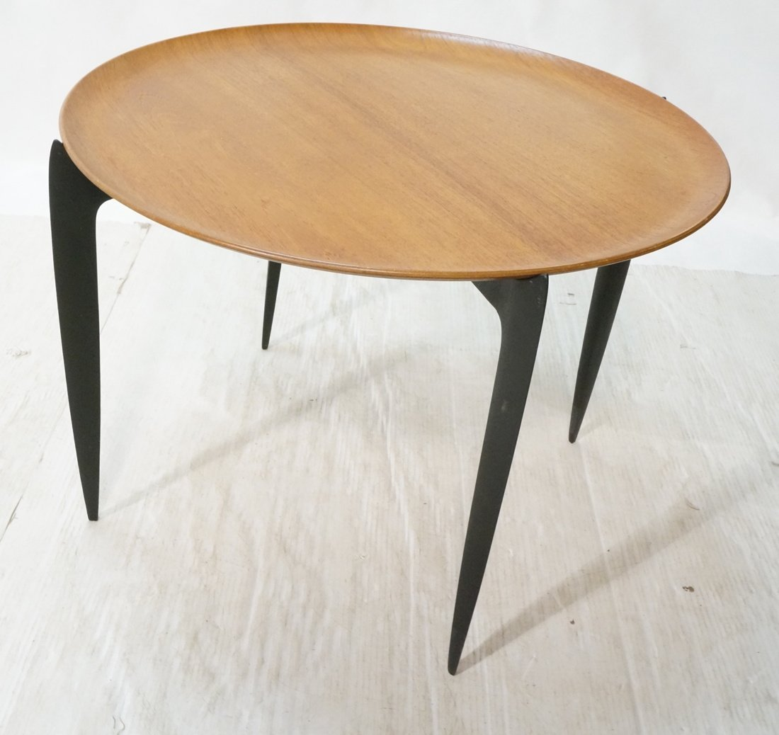 FRITZ HANSEN tray table.  Danish teak. Removable