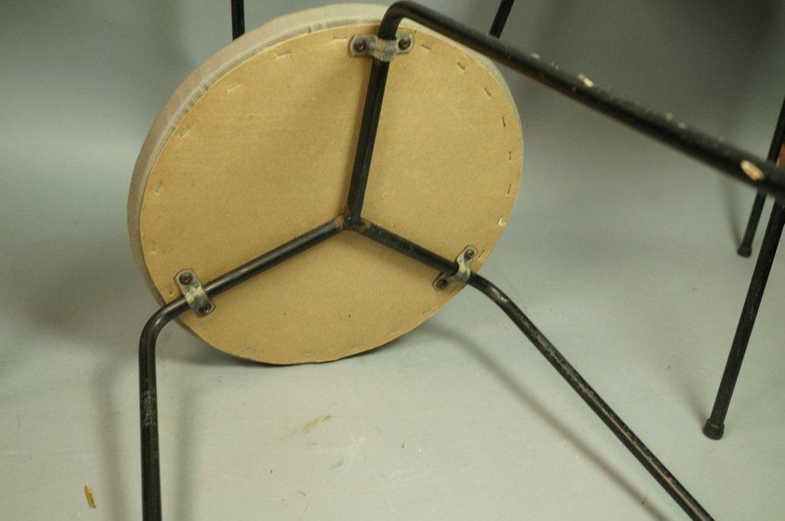 Set 3 Hairpin Iron Legs Round Stools. Gray fabric - 6