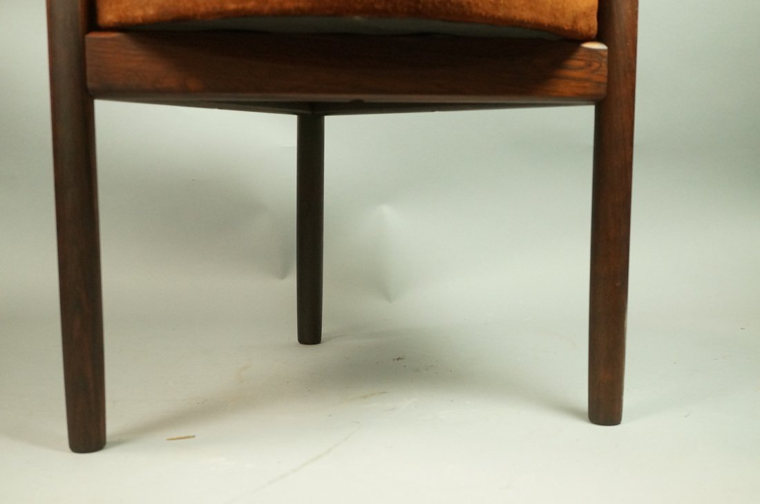 Danish Modern Tripod Triangular Stool with Brown - 3
