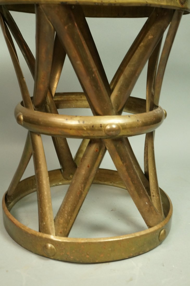 SARREID Style Small Brass Corseted Stool. Seat. N - 3
