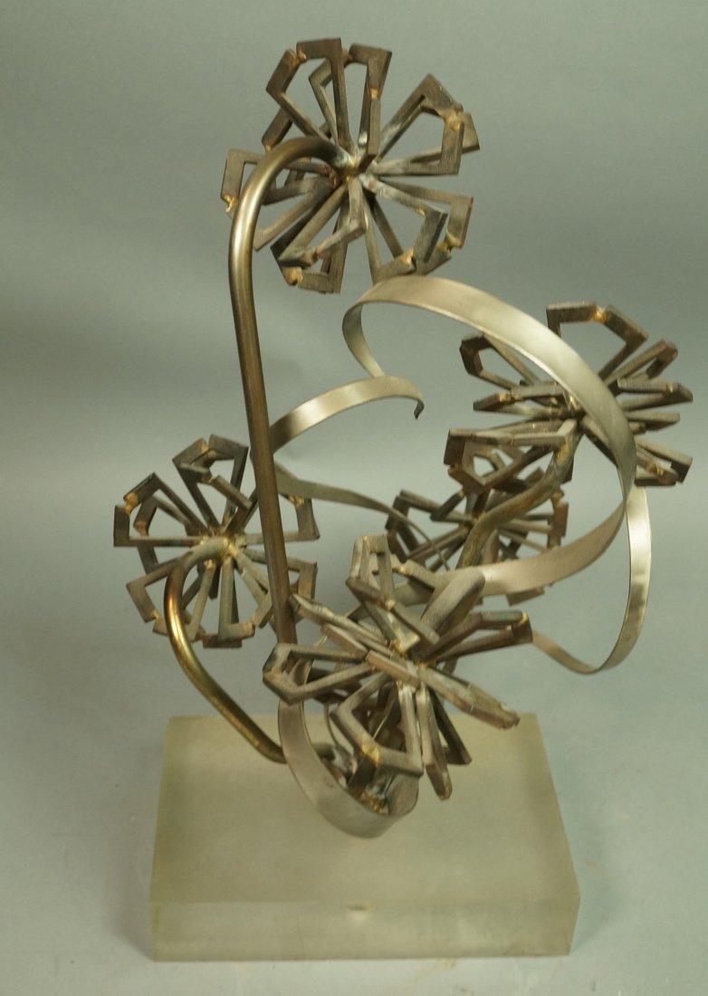 Brutalist Nail & Metal Table Sculpture. Modernist
