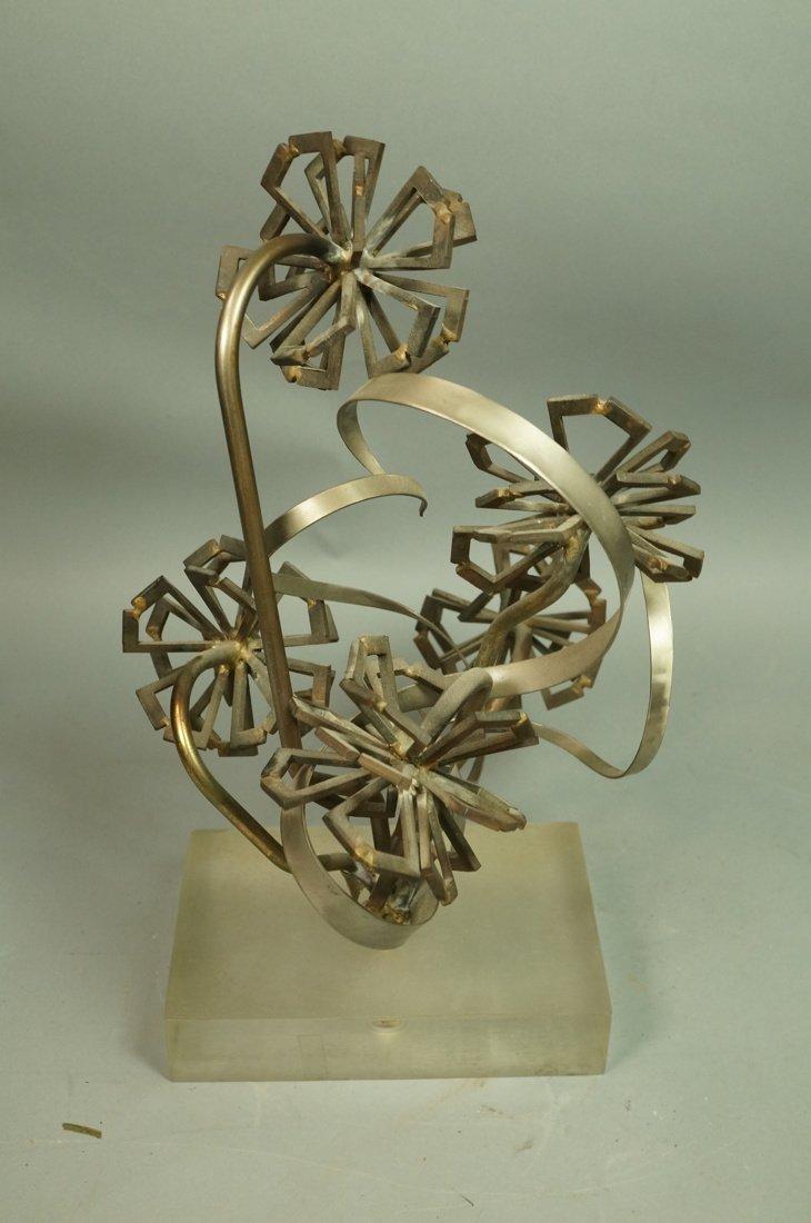 Brutalist Nail & Metal Table Sculpture. Modernist - 2