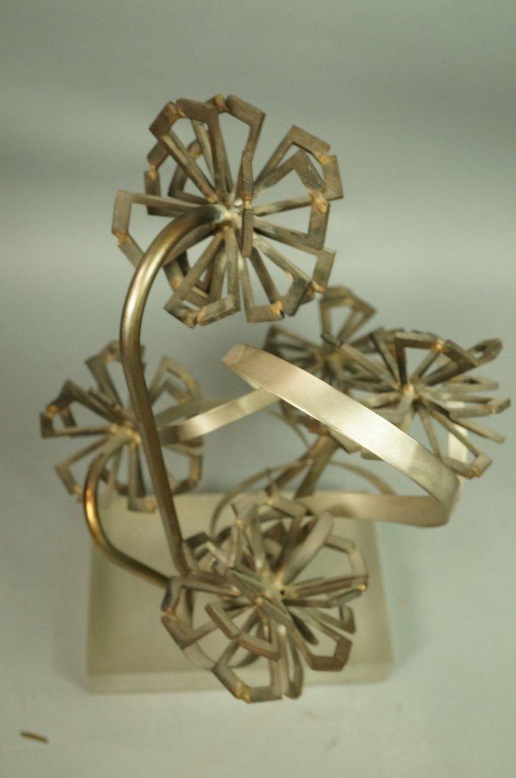 Brutalist Nail & Metal Table Sculpture. Modernist - 3