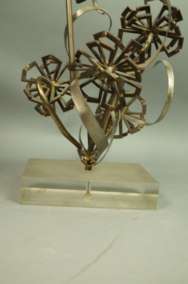 Brutalist Nail & Metal Table Sculpture. Modernist - 4