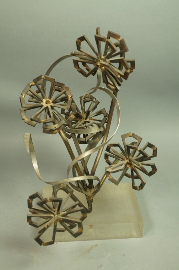 Brutalist Nail & Metal Table Sculpture. Modernist - 5