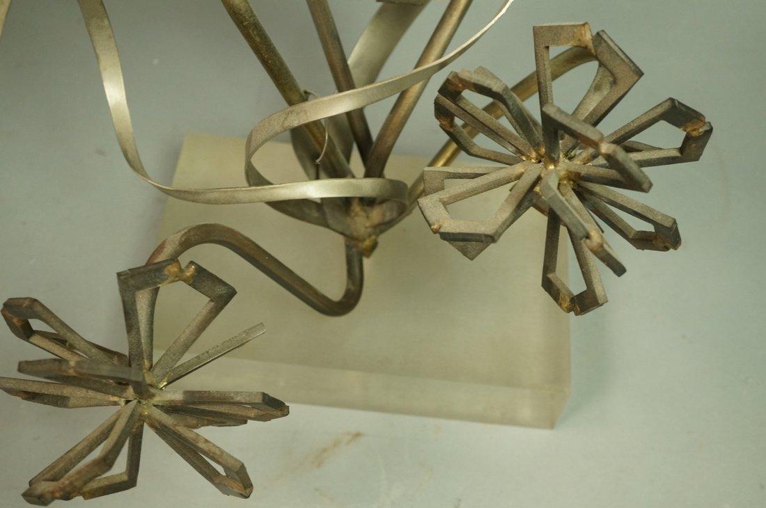 Brutalist Nail & Metal Table Sculpture. Modernist - 6