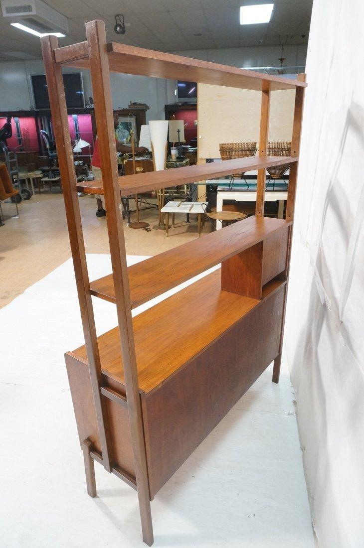 Teak Modern Desk with Book Shelf Top. Three shelv - 7