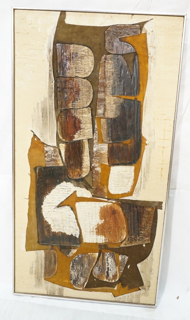 WILMA KING Modernist Abstract Painting. Neutral &
