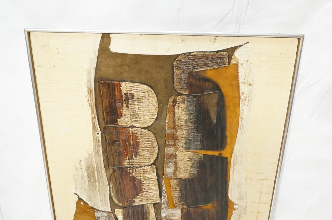 WILMA KING Modernist Abstract Painting. Neutral & - 2